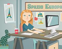 Progetto Giovani Illustrations website