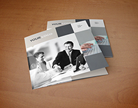 Square Simple Business Grey Trifold