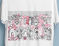 """A strange world"" - T-shirt"