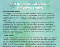 statement of purpose for pediatric dental school admission