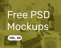 Free PSD Mockups vol. 28
