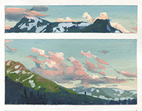 Plein Air Gouache Studies