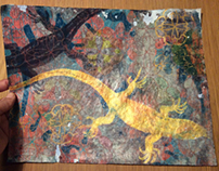 lizard   mixed media on paper