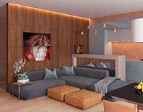 Living room in cottege