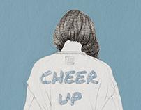 2017, cheer up, illustration