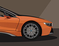 BMW i8 Roadster - Poster Design