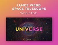 James Webb space telescope web page