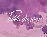 Table du Jour