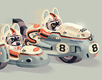 Racing Raccoons