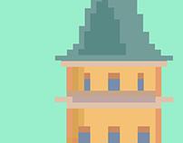 Galata Tower Pixel