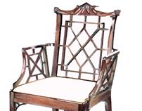 Representação de mobiliário