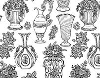 Vintage Vase Pattern Design