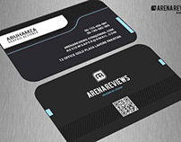Black Minimal Business Card Template Free
