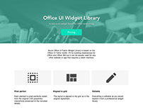 Office UI Fabric Widget Library Landing Page