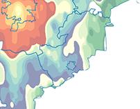 Travel Time Map: Country Around Tyumen