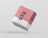 Coffee Paper Bag Mockup Small Size