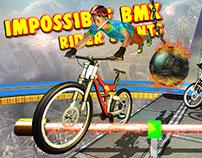 Impossible BMX Rider Stunt Game UI