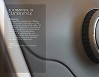 Automotive UI Center Stack