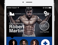 Mobile App UI Design: FatCaliper+ (Ver. 4)