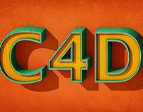 Typografia 3D Retro