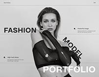 Website Portfolio for a Fashion Model