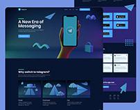 Telegram website redesign
