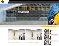 Web Design - Paruchs LLC Construction firm