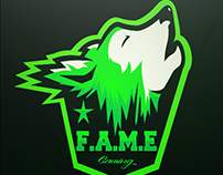 WOLF MASCOT LOGO FOR @FAM3Gaming!