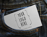 Sheet out of jeans pocket MockUp