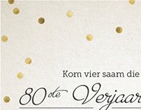80th Birthday Invite