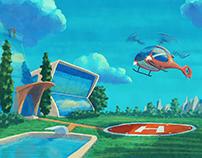 IOTA Helicopter Landing