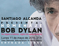 Poster para homenaje a Bob Dylan