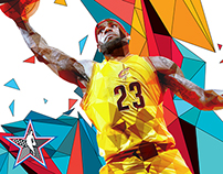 NBA 2015 All-Star Starters Artwork