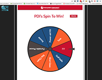 "PDI ""Spin To Win"" Webapp - AngularJS, Ionic, UI/UX"