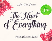[Free Font] The Heart of Everything - Handwritten Font