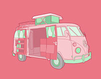 The History of the VW Campervan Illustrations