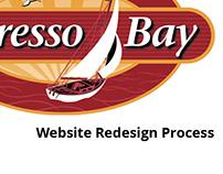 Espresso Bay website redesign process proposal