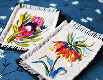 Hand Painted&Embroidered Brooches