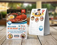 Seafood Restaurant Table Tent Template