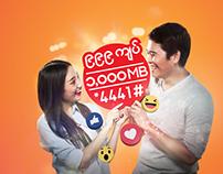 Ooredoo Myanmar Facebook packages