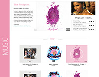 Web Design: Recording Artist Template