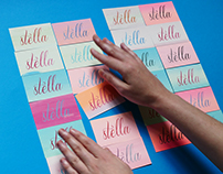 Stella gets colourised by Tind! Silkscreen Print cards