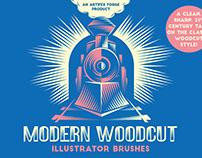 Modern Woodcut Illustrator Brushes