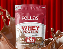 Fellas Whey Protein Packaging Design