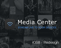 Media Center - iOS8 Redesign