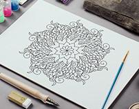 Oriental Mandala Coloring Sheets