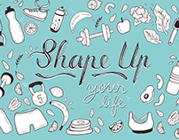 Shape Up - Illustration for fitness studio