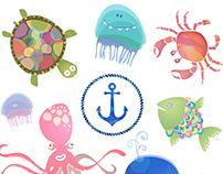 Baby sea creatures