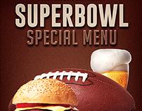 Super Bowl American Football Menu Flyer