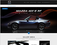 CONCEPT Microsite for Mazda Mx-5 RF LIMITED EDITION